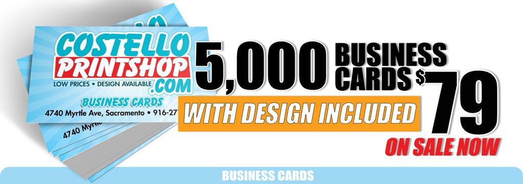 Sacramento business card printing and design