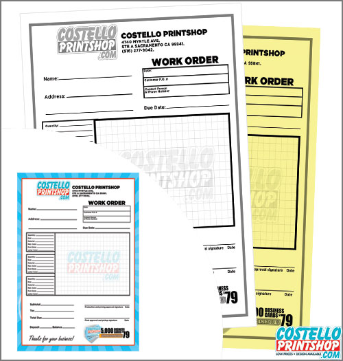 2 part custom ncr form printing