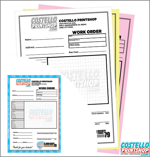 3 part ncr receipt forms