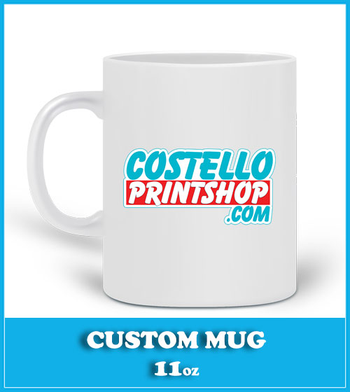 custom mug printing on 11oz white mug