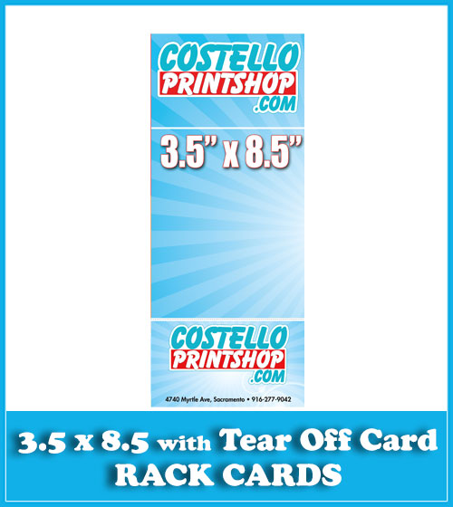 Sacramento Rack Card Printing for Rackcard with business card tear off
