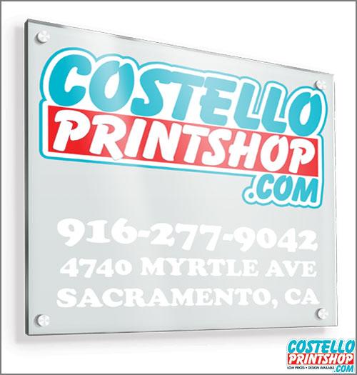 Acrylic Signs Sacramento Area