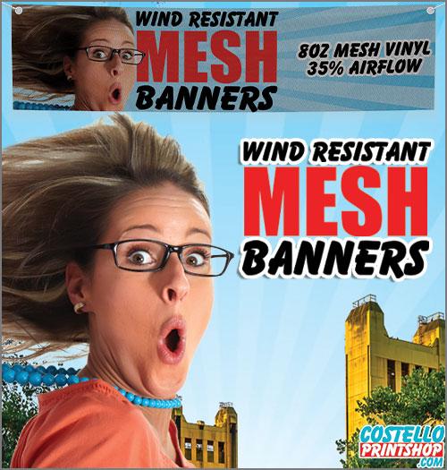order Mesh vinyl banner