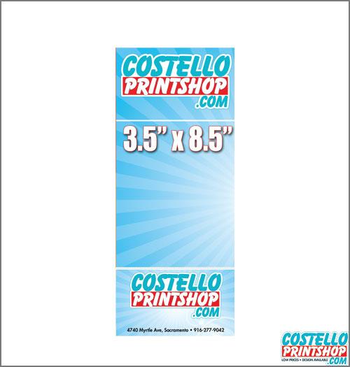Sacramento Rack Card Printing 3.5x8.5