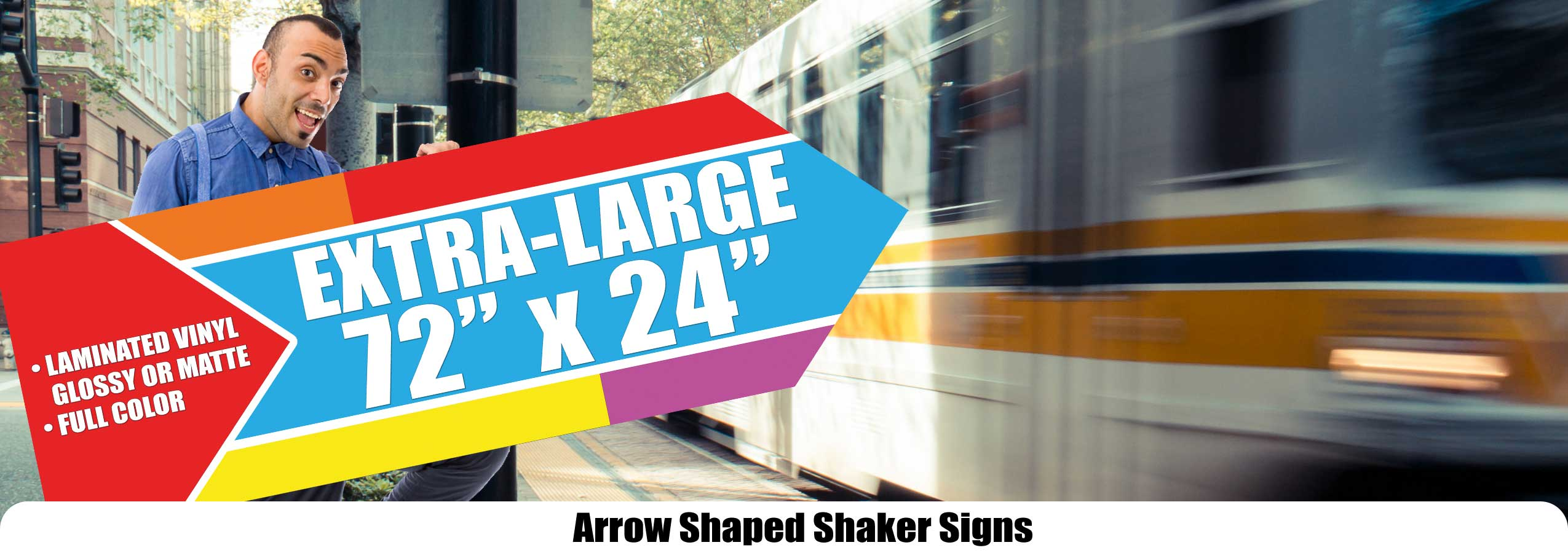 Arrow Shaker Spinner Signs 39 ⋆ Sacramento
