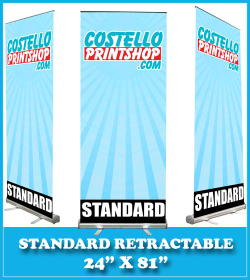 banner stand 24x81
