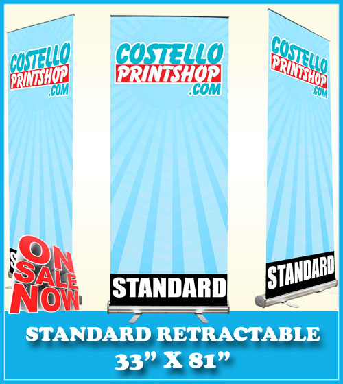 banner stand 33x81