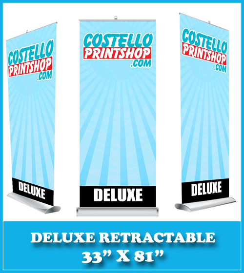 deluxe banner stand 33x81