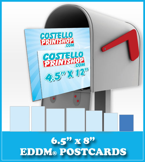 Order 6.5x8 Every Door Direct Mail Postcards