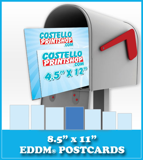 Order 8.5x11 Every Door Direct Mail Postcards