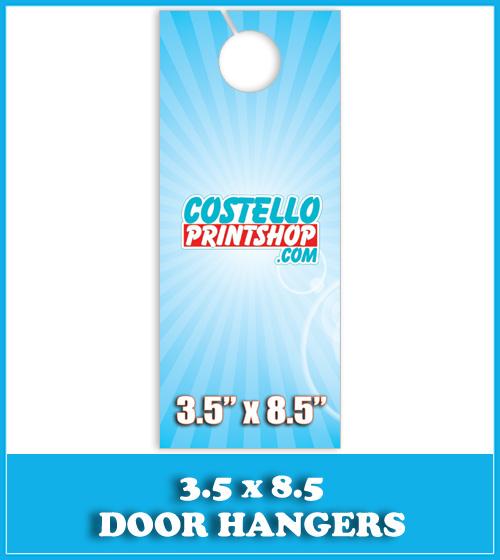 Sacramento Door Hanger Printing 3.5x8.5