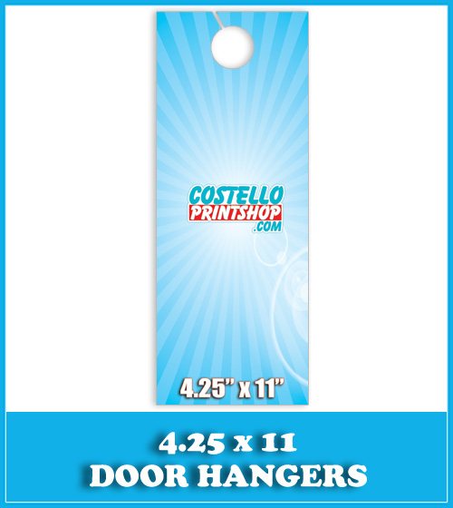 Sacramento Door Hanger Printing 4.25x11
