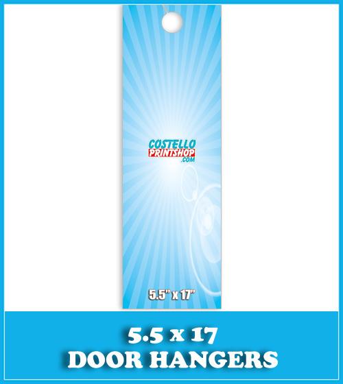 Sacramento Door Hanger Printing 5.5x17