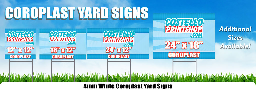 Plastic Yard Signs with H-Stakes