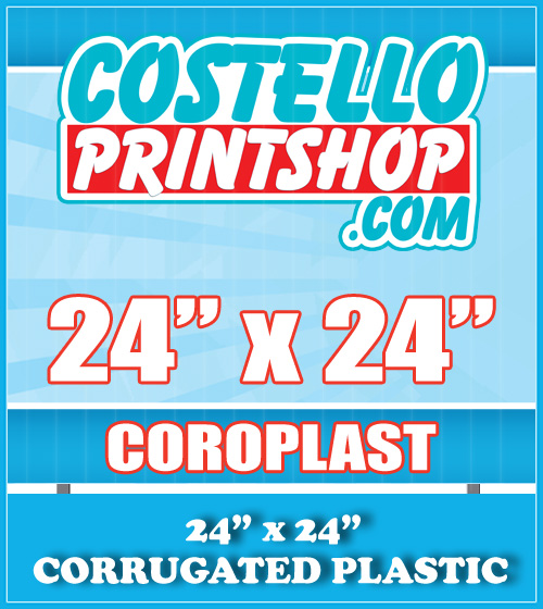 plastic yard signs 24x24