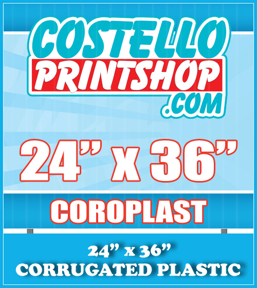 plastic yard signs 24x36