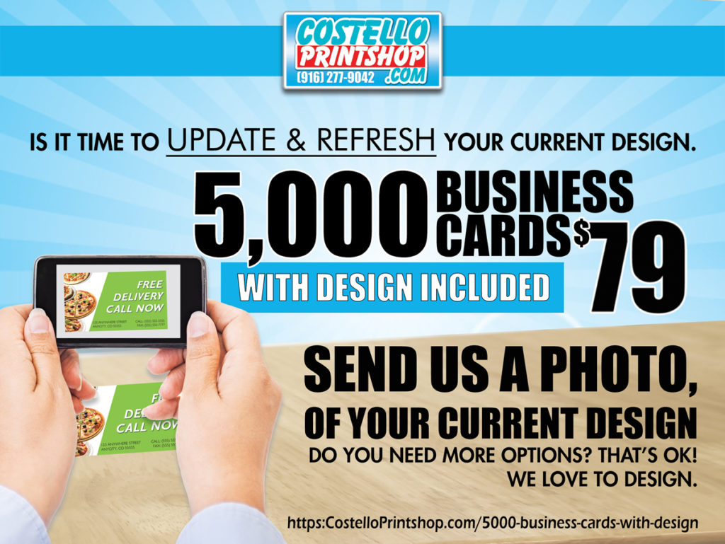 business cards with design 5000 for 79 in Sacramento
