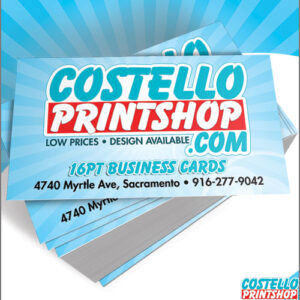 business cards sacramento 16pt. low prices