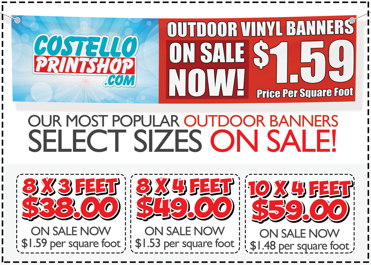 Outdoor vinyl banners on sale in Sacramento pickup only